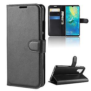 ieftine Ceasuri Damă-Maska Pentru Huawei Huawei P20 / Huawei P20 Pro / Huawei P20 lite Portofel / Titluar Card / Întoarce Carcasă Telefon Mată Greu PU piele