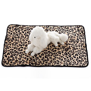 ieftine Câini Articole şi Îngrijire-Câini Pisici Căptușeală saltea Paturi Prosoape Paturi de pat Pături Terilenă Keep Warm Pliabil Απαλό Leopard Caracter Zebră Alb Negru Leopard