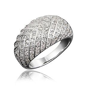 ieftine Inele-Pentru femei Inel Micro inel de pavele Zirconiu Cubic 1 buc Auriu Argintiu 18K Placat cu Aur Diamante Artificiale Rotund Neobijnuit Stilat Lux Petrecere Logodnă Bijuterii Clasic Încântător