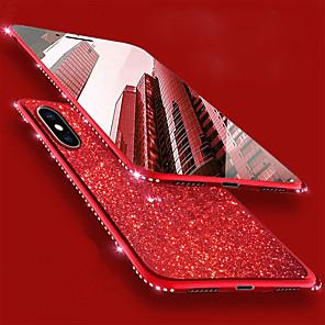 ieftine Aurii cu fir cu fir-Maska Pentru Apple iPhone XS / iPhone XR / iPhone XS Max Stras / Placare Capac Spate Luciu Strălucire / Ștras Moale TPU