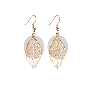 ieftine Cercei-Pentru femei Cercei cercei Bijuterii Auriu Pentru Absolvire Zilnic Anul Nou aleasă a inimii Festival 1 Pair