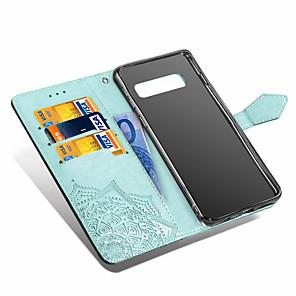economico Custodie / cover per Galaxy serie S-Custodia Per Samsung Galaxy Galaxy S10 / Galaxy S10 Plus / Galaxy S10 E A portafoglio / Porta-carte di credito / Con supporto Integrale Fiori Mandala Resistente pelle sintetica