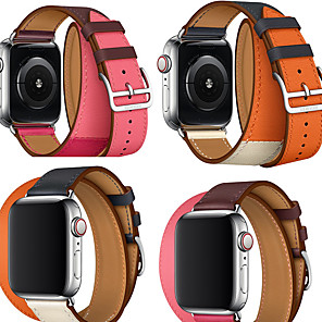 povoljno Apple Watch remeni-Pogledajte Band za Apple Watch Series 5/4/3/2/1 Apple Kožni remen Prava koža Traka za ruku