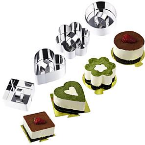 ieftine Instrumente cookie-1 buc Oțel inoxidabil #D Tort Ustensile Novelty de Bucătărie Rotund Dreptunghiular Pătrat Materiale pentru torturi Instrumente de coacere