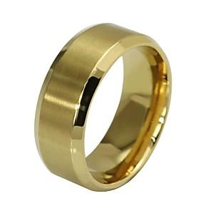 ieftine Inele-Bărbați Inel Inel de Logodnă 1 buc Negru Roz auriu Auriu inox Circular Simplu Hip-Hop Inginerie Logodnă Cadou Bijuterii Retro Credinţă Ieftin