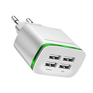 povoljno HDMI kablovi-USB punjač -- 4 Stanica punjača za stolno računalo New Design EU utikač Punjač za punjenje