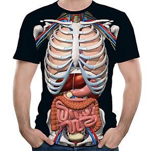 povoljno Muške majice i potkošulje-Majica s rukavima Muškarci Grafika Okrugli izrez Crn