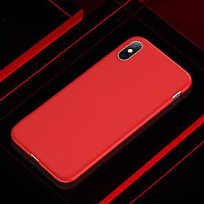 رخيصةأون أغطية أيفون-غطاء من أجل Apple iPhone XS / iPhone XR / iPhone XS Max نحيف جداً / مثلج غطاء خلفي لون سادة ناعم TPU