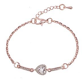 ieftine Brățări-Pentru femei Brățări cu Legături Clasic Iubire Stilat Simplu Romantic Cute Stil Aliaj Bijuterii brățară Roz auriu / Argintiu Pentru Zi de Naștere Zilnic Oficial