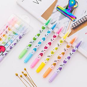 ieftine Instrumente Scris & Desen-Carcasă de plastic Curcubeu 6pcs Evidențiatoate / Pix colorant de apă 15*6*1 cm