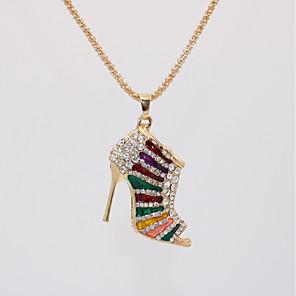 levne Náhrdelníky s přívěšky-Dámské Náhrdelníky s přívěšky dlouhý náhrdelník Geometrické Bota Jedinečný design Evropský Moderní Romantické Pozlacené Chrome Černá Fialová Červená Modrá Duhová 70 cm Náhrdelníky Šperky 1ks Pro