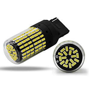ieftine Car Signal Lights-1pcs T20(7440,7443) / W21W / WY21W Mașină Becuri 4 W SMD 3014 450 lm 144 LED Bec Semnalizare Pentru Παγκόσμιο Toți Anii
