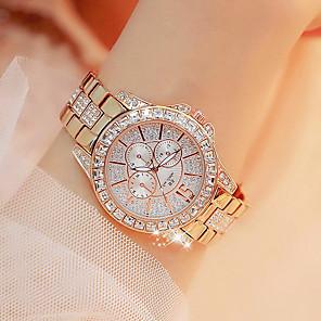 저렴한 여성 디지털 시계-여성용 손목 시계 금시계 일본어 석영 실버 / 골드 / 로즈 골드 뉴 디자인 캐쥬얼 시계 모조 다이아몬드 아날로그 캐쥬얼 패션 - 골드 실버 로즈 골드 2 년 배터리 수명