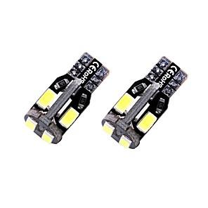 ieftine Lumini de Interior Mașină-2pcs T10 / W5W Mașină Becuri 1.35 W SMD 5730 10 LED Bec Placuțe Înmatriculare / Lumini de interior / Luminile de margine laterale Pentru Παγκόσμιο Toți Anii
