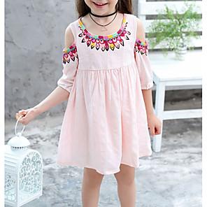 ieftine Colier la Modă-Copii Fete Floral Rochie Alb