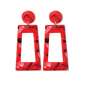 cheap Puppets-Women's Drop Earrings Geometrical Geometric Trendy Fashion Modern Earrings Jewelry Blue / Pink / Black / White For Daily Street Going out Bar 1 Pair