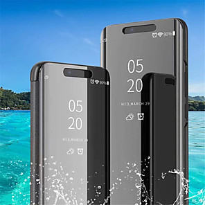 ieftine Carcase / Huse de Huawei-Maska Pentru Huawei Huawei P20 / Huawei P20 Pro / Huawei P20 lite Cu Stand / Placare / Oglindă Carcasă Telefon Mată Greu PU piele / P10 Plus / P10 Lite / P10