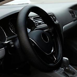 billige Øreringe-universelt skridsikret pu leather diy bil ratt dæksel med nåle og tråd car-stying
