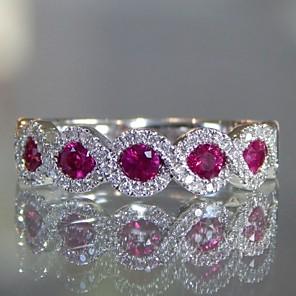 ieftine Inele-Pentru femei Band Ring Eternity Ring Zirconiu Cubic 1 buc Rosu Articole de ceramică Geometric Shape Stilat Lux European Petrecere Cadou Bijuterii Clasic Dispozitie Cool