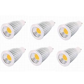 ieftine Faruri de Mașină-6pcs 7 W Spoturi LED 650 lm MR16 MR16 14 LED-uri de margele COB Petrecere Decorativ Crăciun decor de nunta Alb Cald Alb Rece 12 V / RoHs