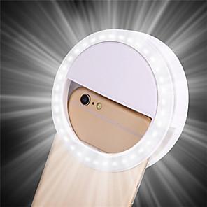 ieftine Lumini Nocturne LED-3.35inch clip selfie inel pe telefonul mobil cerc cercel inel flash lentilă frumusețe lampă luminoasă pentru smartphone tiktok portabil 1 buc