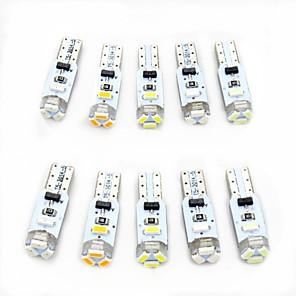 ieftine Lumini de Interior Mașină-10pcs T5 Mașină Becuri 0.5 W SMD 3014 80 lm 5 LED Lumini de interior Pentru Παγκόσμιο Toți Anii