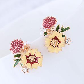 povoljno Naušnice-Žene Sitne naušnice Cvijet Europska slatko Moda Naušnice Jewelry žuta / Bijela / Pink Za Dnevno Spoj 1 par