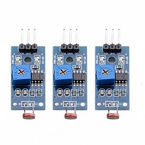 ieftine Module-3 piese de detectare a luminii comutator digital de ieșire modul de ieșire de lumină fotosensibil pentru arduino