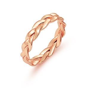 ieftine Inele-Pentru femei Band Ring 1 buc Auriu Argintiu Aliaj Circle Shape Personalizat Simplu Design Unic Zi de Naștere Cadou Bijuterii Răsucit Draguț Heart
