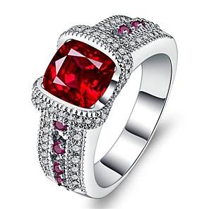 ieftine Inele-Pentru femei Inel Zirconiu Cubic 1 buc Rosu Aliaj Nuntă Cadou Bijuterii pava