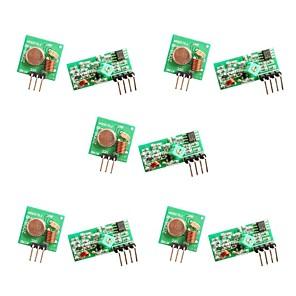 ieftine Conectoare & Terminale-5pcs 433mhz rf wireless transmitator și receptor modul de legătură kit pentru arduino / braț / mcu / zmeură pi / wireless diy