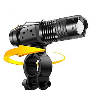ieftine Lumini de Bicicletă-LED Lumini de Bicicletă Iluminat Bicicletă Față Becul farurilor Lanternă LED Ciclism montan Bicicletă Ciclism Rezistent la apă Moduri multiple Portabil Ușor de Instalat AA / 14500 2000 lm 1 × Baterie