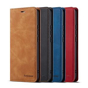 billige Etuier/deksler til Huawei-Etui Til Huawei Huawei P20 / Huawei P20 Pro / Huawei P20 lite Kortholder / Støtsikker Heldekkende etui Ensfarget PU Leather