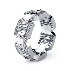 ieftine Inele-Bărbați Pentru femei Inel 1 buc Argintiu Diamante Artificiale Aliaj European Zilnic Bijuterii Muchie de cuțit