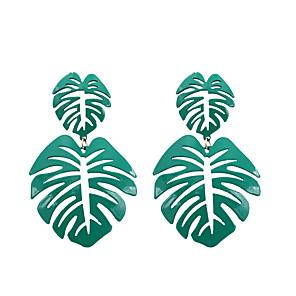 hesapli Küpeler-Kadın's Damla Küpeler Küpe Tropik Leaf Shape Koreli Küpeler Mücevher Yeşil Uyumluluk Hediye Günlük Cadde Bar Festival 1 çift
