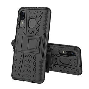 Недорогие Чехлы и кейсы для Galaxy A3-Кейс для Назначение SSamsung Galaxy A5(2018) / A6 (2018) / A6+ (2018) Защита от удара / со стендом Кейс на заднюю панель броня Твердый ПК