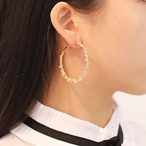 ieftine Cercei-Pentru femei Cercei Rotunzi Retro Declarație Stilat cercei Bijuterii Auriu / Argintiu Pentru Petrecere Cadou Carnaval 1 Pair