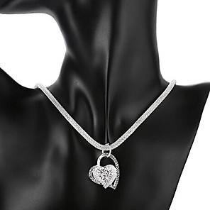 ieftine Colier la Modă-Pentru femei Coliere cu Pandativ Inimă Iubire Ieftin Hollow Heart femei de Mireasă Italiană De Fiecare Zi Plastic Argintiu Coliere Bijuterii 1 buc Pentru Nuntă Petrecere Aniversare Zi de Naștere