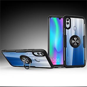 Недорогие Чехлы и кейсы для Huawei-Кейс для Назначение Huawei Huawei Honor 10 / Huawei Honor 8X / Huawei Honor 8X Max Кольца-держатели Кейс на заднюю панель Однотонный Твердый ПК