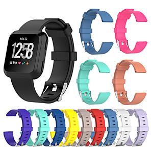 Недорогие Ремешки для спортивных часов-Ремешок для часов для Fitbit Versa Fitbit Спортивный ремешок силиконовый Повязка на запястье