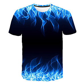 povoljno Naušnice-Majica s rukavima Muškarci 3D Okrugli izrez Print Djetelina