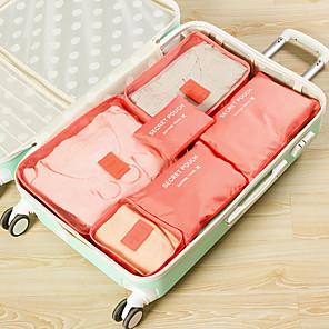 ieftine Sănătate Călătorie-6 Organizator Bagaj de Călătorie Kit de Călătorie Capacitate Înaltă Portabil Rezistent la Praf pentru Net Nailon 37.5*27*12 cm Toate Unisex Voiaj Călătorie / Accesorii sac / Geantă Pantofi