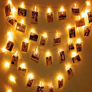 ieftine Fâșii Becurie LED-3M Fâșii de Iluminat 20 LED-uri 1set Alb Cald RGB Alb Creative Petrecere Decorativ Baterii alimentate