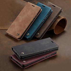 저렴한 Huawei 케이스 / 커버-케이스 제품 Huawei P smart / 화웨이 P 스마트 2019 지갑 / 카드 홀더 / 충격방지 전체 바디 케이스 솔리드 하드 PU 가죽