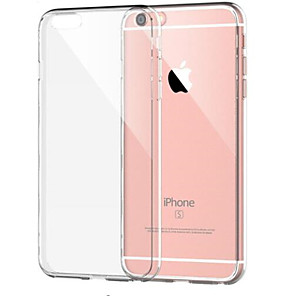 abordables Coques d'iPhone-Coque Pour Apple iPhone 8 Plus / iPhone 8 / iPhone 7 Plus Antichoc / Transparente Coque Couleur Pleine Flexible TPU