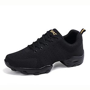ieftine Pet Costume de Crăciun-Bărbați Pantofi de dans Croșet / Plasă Pantofi Dans Adidași Toc Drept Personalizabili Alb / Negru