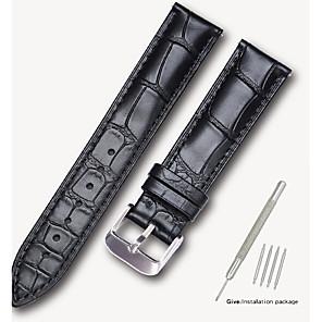 ieftine Accesorii Ceasuri-Piele autentică / Piele  / Blană Vițel  Uita-Band Negru / Maro 17cm / 6.69 Inci / 18cm / 7 Inci / 19cm / 7.48 Inci 1.4cm / 0.55 Inchi / 1.6cm / 0.6 Inci / 1.8cm / 0.7 Inchi