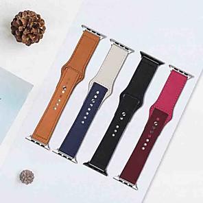 ieftine Imbracaminte & Accesorii Căței-Uita-Band pentru Apple Watch Series 5/4/3/2/1 / Apple Watch Series 4 Apple Catarama moderna Piele Autentică Curea de Încheietură