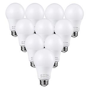 povoljno Sigurnosni senzori-zdm 10kom 5w vodio žarulje 45 W ekvivalent 3000k / 6000k dnevno svjetlo bijelo bez treperenja e26 / e27 srednje vijak baze žarulje 450lumens ne dimmable ac110v / ac220v