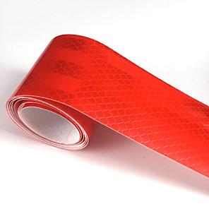 ieftine Papetărie-roșu autocolant reflectorizant reflectorizant 5cm x 5m mașină camion motocicletă bandă de vizibilitate bandă auto-lumină
